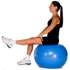 Tratamento com bola Pilates na Clínica Pisati
